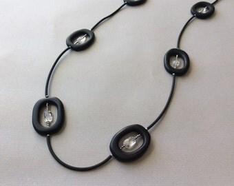 Geometric onyx necklace
