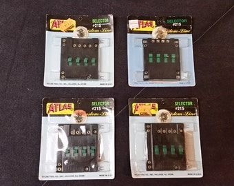 Set of (4) Atlas HO - N - O  Scale Selectors #215 New Old Stock (NOS)