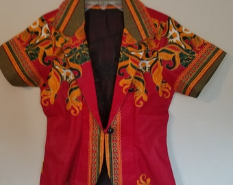 Pink/Orange Ankara/ African print Jacket