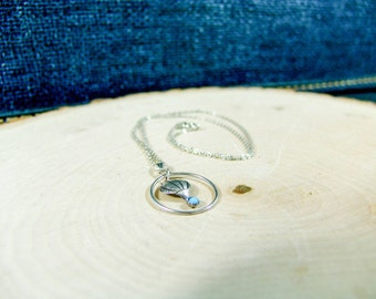 Sterling Silver Turquiose Hot Air Balloon Necklace