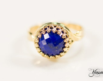 Maharani with lapis lazuli gold plated