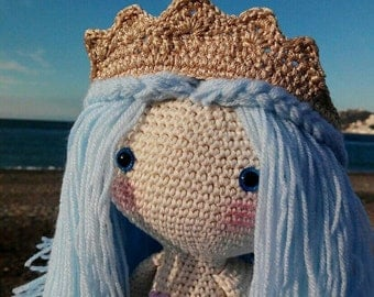 Doll Mermaid, siren amigurumi, Lalylala, infant gift, crochet, mermaid, mermaid doll, amigurumi mermaid siren
