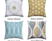 Golden Leaf Pillow, Medallion Pillow Cover, Floral Pillow, Rain Collection Zipper Pillow Covers, 18x18 20x20 22x22 24x24 26x26, Robert Allen