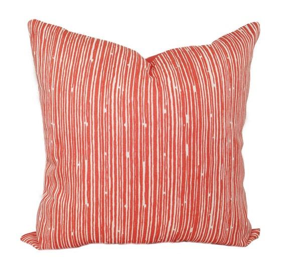 Throw Pillows Us : Coral Throw Pillow Pillows Coral Stripe Decorative Throw