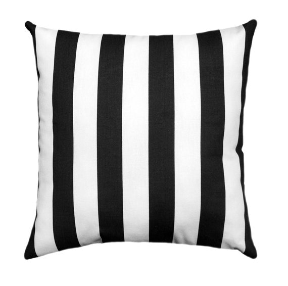 pillow cover black white stripes lumbar throw pillow cover. Black Bedroom Furniture Sets. Home Design Ideas