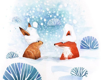 Rabbit and Fox