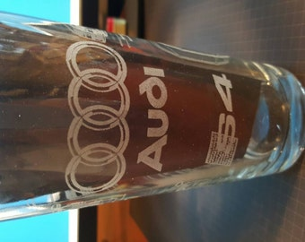Audi S4 2012 design - Laser Etched Pint Glass