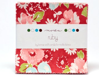 RARE Ruby by Bonnie and Camille for Moda OOP & HTF Charm Pack