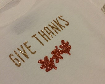 Give Thanks Thanksgiving Onesie
