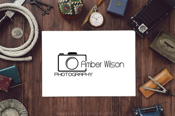 Photography Logo, Camera Logo, Instant Download, Custom Business