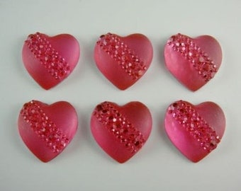 5 Pink Hair Coil Hearts Twist Any Occasion, 20mm Wedding Party, Bride, Cheer, Proms or Any Special Event