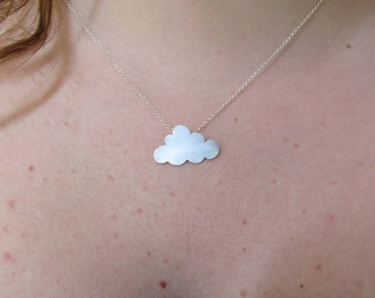 Sterling Silver Cloud Necklace, Minimalist Jewelry, Bridesmaid Gift, Gift for Girlfriend Trending Jewelry for Women Fashion Jewelry Mom Gift