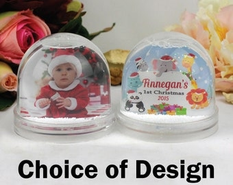 Baby 1st Christmas Snow Globe - Personalised