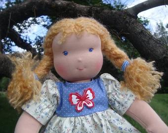 Waldorf doll, rag doll, textile doll, fabric doll, custom doll, cloth dol