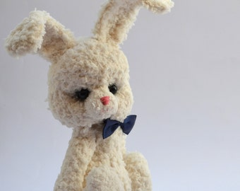 Little white Bunny crochet, Amigurumi, stuffed animal, 20 cm without ears
