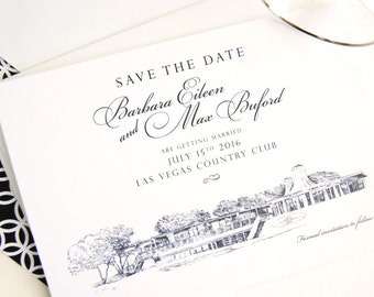 Las Vegas Country Club Wedding Save the Date Cards, Save the Dates (set of 25 cards)