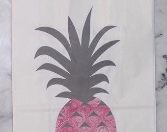 Pink Paisley Pineapple Gift Bag