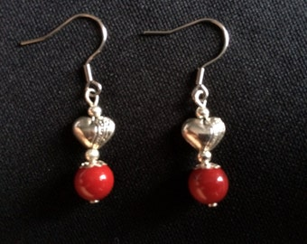 Earrings - Coral