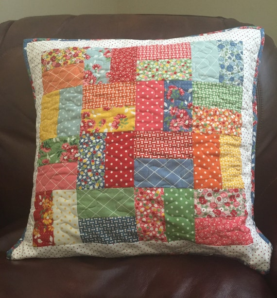 Handmade Bread And Butter Quilted Pillow By American Jane For
