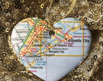 Jersey Shore Map Ornament