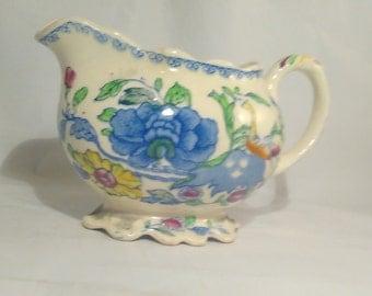 Vintage Plantation Colonial Regency Mason's Porcelain Gravy Boat, Server, Creamer, Country Kitchen, Dining