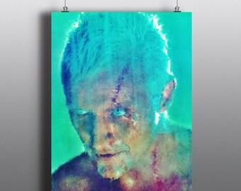 Blade Runner -  Roy Batty, Dystopian Future,Do Androids Dream of Electric Sheep, Ridley Scott, Mixed Media Poster, Cyberpunk Print, No136