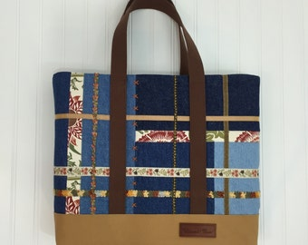 Patchwork Blues Tote