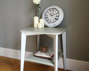 Retro Side Table with Shelf