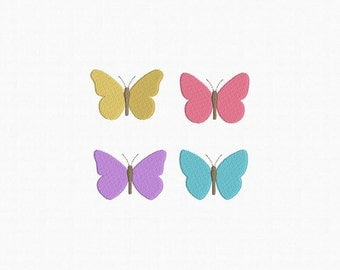 Mini Butterfly Machine Embroidery Design - 4 Designs by 3 Sizes