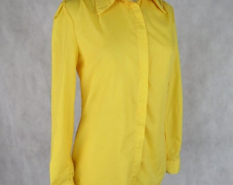 Yellow Women's Long-Sleeved Shirt - Size 8-10AUS - ONE OF A KIND