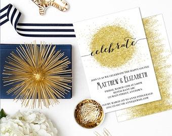 Printable Rehearsal Dinner Invitation, Printable Engagement Party Invitation, Rehearsal Dinner Invite, Wedding PDF, Wedding Printable, GLTR1