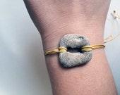 Bracelet men women unisex beach rock beach stone hipster boho gift for friend friendship gift