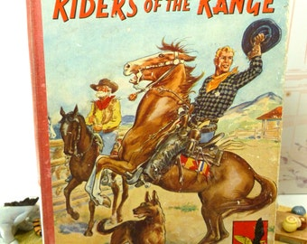 Riders of the Range Charles Chiltons Western Annual Eagle Cowboy Stories Vintage Boys Books 1950