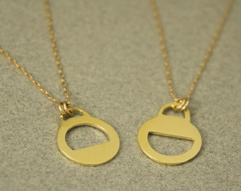 Mother-Daughter Necklaces, Friendship Necklaces, Sisters Necklaces, Gold Friendship Necklaces, Daughter Necklace, Set of 2