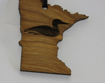 Ornament Minnesota Loon - Reclaimed Urban Wood . eco Urban Timber