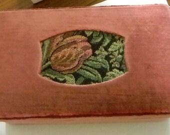 Mauve Brushed Velvet Earring Jewelry Box Storage - Italy