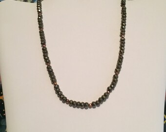 Silver and Rose Gold Pyrite