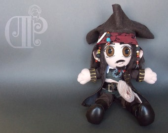Jack Sparrow Disney Pirates of the Caribbean Plush Doll Plushie Toy