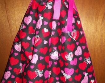 Hearts Bandana Dress, Bandana Top. Valentines Day Bandana Dress or Top. ONE SIZE. Ready to ship