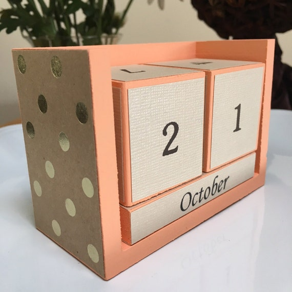 Calendar Wood Blocks : Perpetual desk calendar wooden blocks by perpetualcalendarsbm