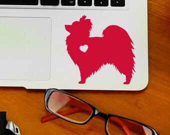 SUMMER SALE! Papillon w/ Heart Car Laptop Vinyl Decal Sticker