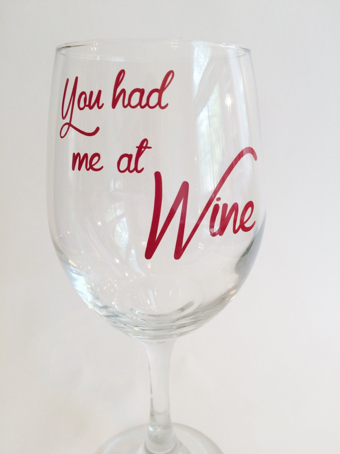 Unique Wine Glass Teacher Gift Customizable Wine Glass