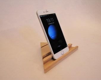 Wooden iPhone portrait & landscape stand (suitable for all smartphones)