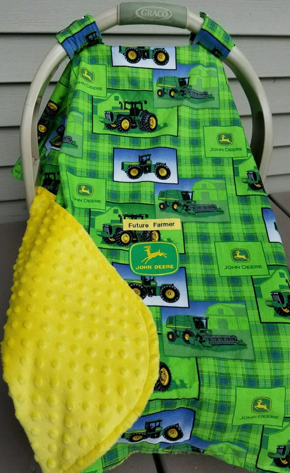 John Deere Car Seat Covers : Car seat canopy cover john deere tractor baby by