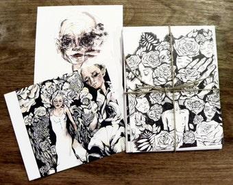 Six Postcard Stationery Set