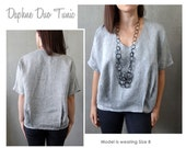 Daphne Duo Tunic Sewing Pattern - Sizes 10, 12, 14 - Women's Tunic PDF Sewing Pattern by Style Arc for Printing at Home