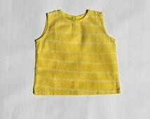 Babies' cotton shibori vest with button back