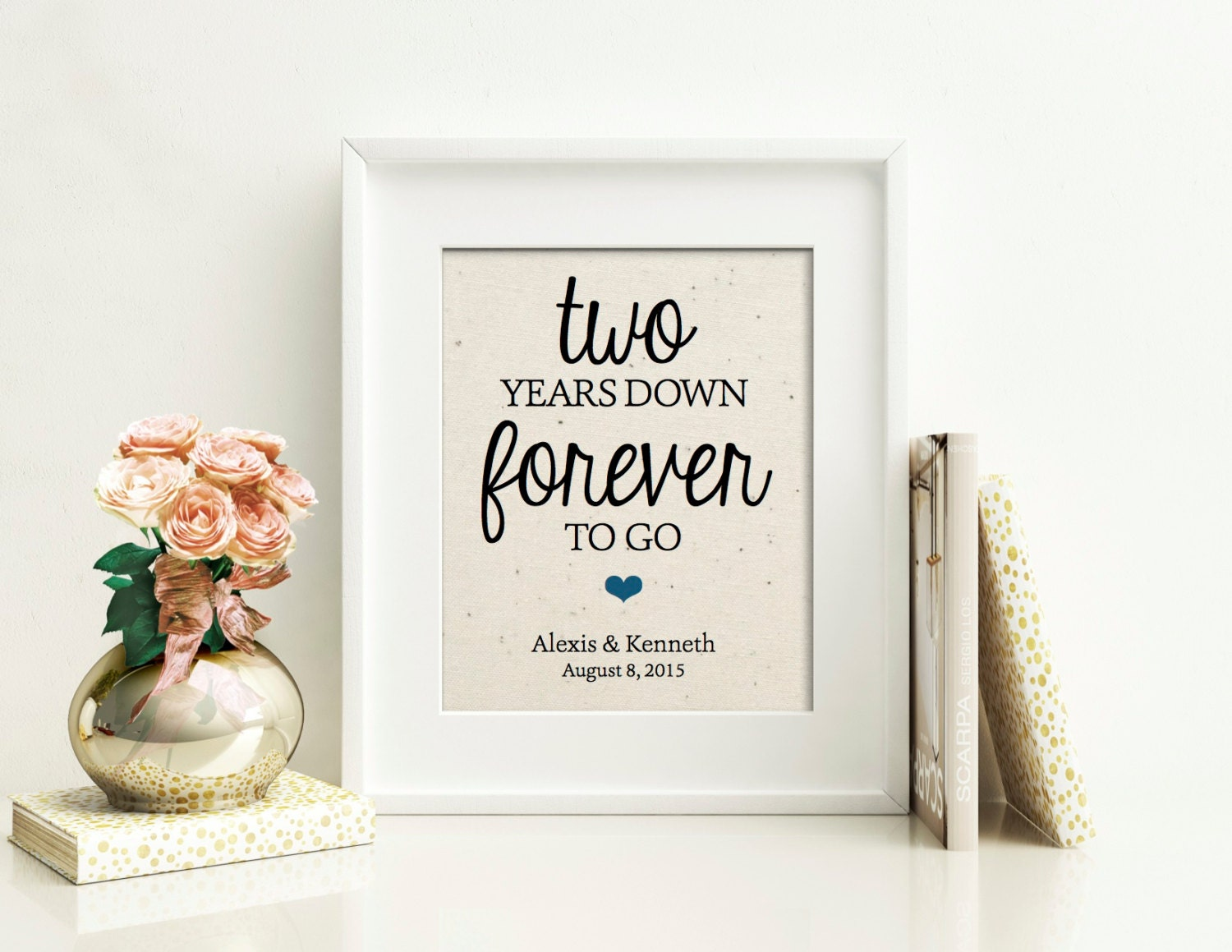 Traditional 25th Wedding Anniversary Gifts: 2 Year Anniversary Gift Cotton Anniversary 2nd Anniversary