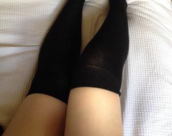 Black Over the Knee Socks (COTTON)