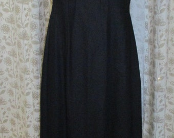 Long linen dress, black, Gr.S 36/38